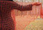 Ажурная шаль спицами: схема и описание для начинающих