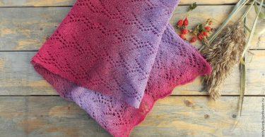 Ажурный шарф спицами: схемы и описание узоров