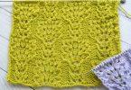 Двусторонние узоры спицами: схемы (для шарфа, пледа)