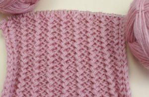 Узор резинка французская спицами, варианты вязания