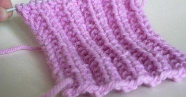 Канадская резинка спицами: схема вязания