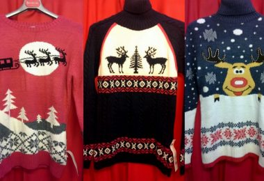 Мужской свитер с оленями: схема вязания спицами