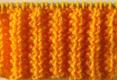 Резинка патронташ спицами: схемы вязания (на круговых спицах)