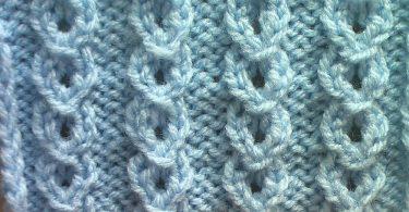 Узор «цепочка» спицами: схемы, описание вязания