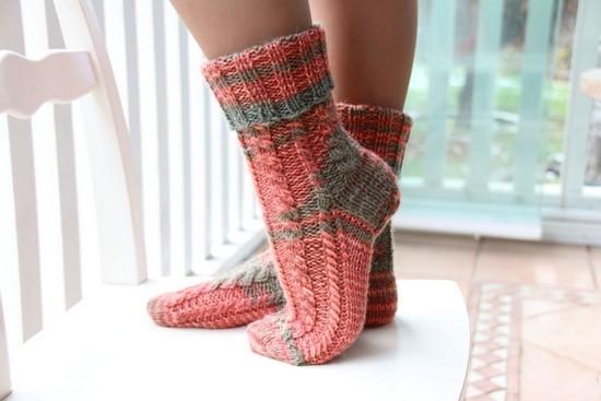 Простые узоры для носков спицами