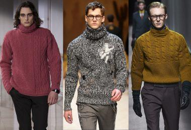Узоры спицами для мужских свитеров (рельефные, жаккардовые)
