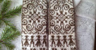 Варежки спицами с узором: схемы и описание