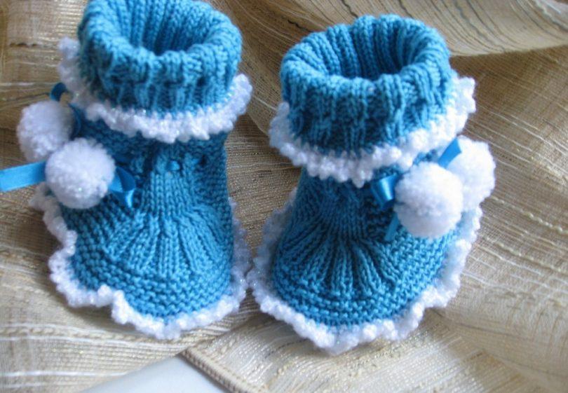 Вязание детских пинеток спицами для самых маленьких: схемы