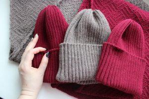 Вязание шапки английской резинкой круговыми спицами: схемы