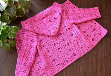 Вязание спицами: детские кофточки для девочек (2 года, 3 лет)