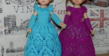 Вязание спицами для кукол со схемами и описанием