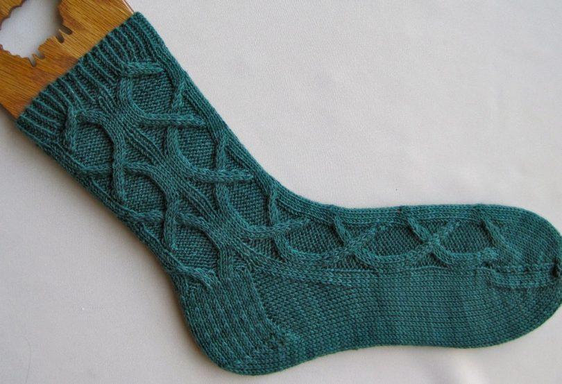 вязаные носки спицами с узором схемы рисунков