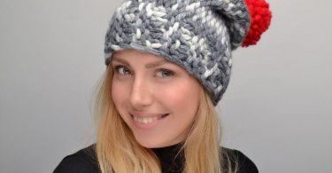 Женские шапки спицами с описанием и схемами (модные, зимние)