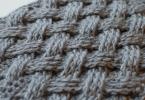 Узор «Плетенка» спицами