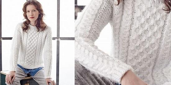 женский свитер спицами с описанием и схемами