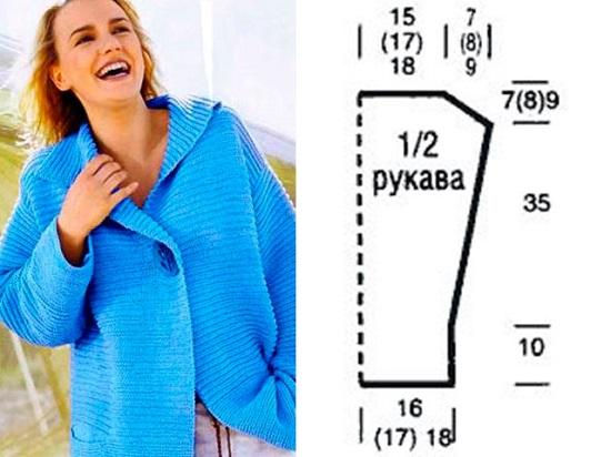 Кофты спицами: схемы и описание для женщин