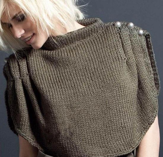 Манишка спицами для женщин: схемы вязания
