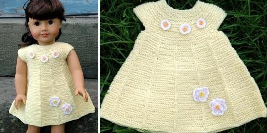 вязание спицами для кукол