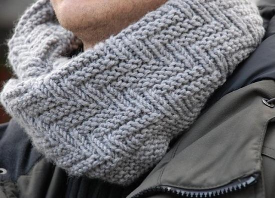 шарф в виде трубы