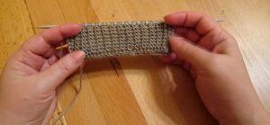 новенький узор для шарфа спицами