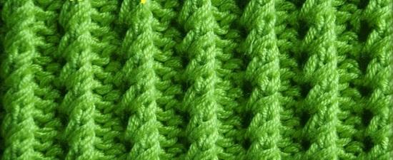 канадскую резинку спицами и ее схемы вязания
