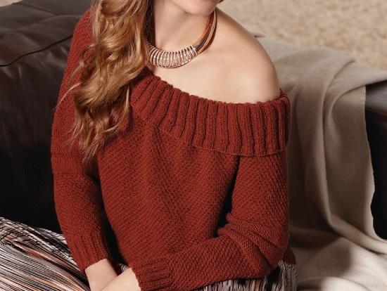 свитер в стиле рубан