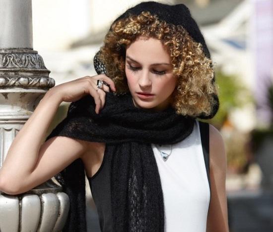 Женские ажурные шарфы спицами