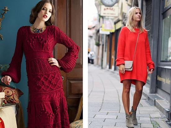 вязание платья спицами для женщин