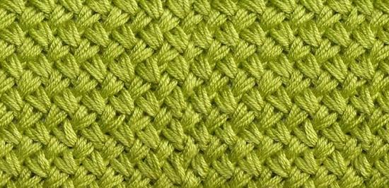 узор «мелкая плетенка» спицами