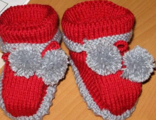 вязаные ботинки для декоративной собаки