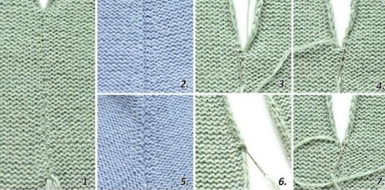 матрасный шов в вязании спицами на изнаночной глади