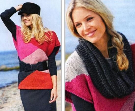 схемы вязания спицами интарсии для женщин