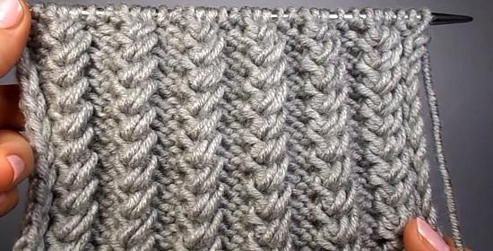 Схемы вязания резинок