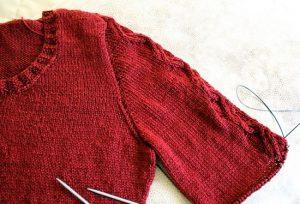 Вязание оката рукава спицами