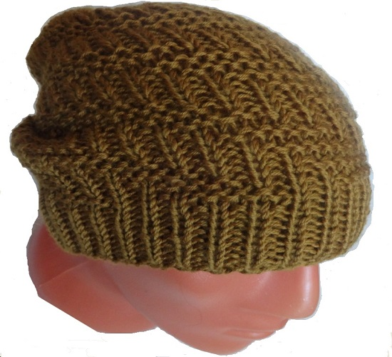 вязание шапки бини спицами