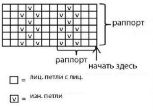 узор по схеме ниже
