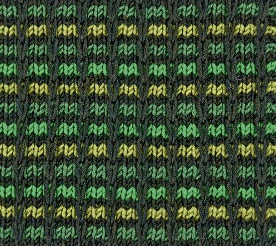 вязание спицами узора «цепочка в клеточку»