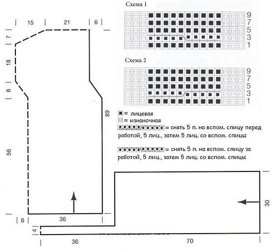 Схемы вязания спицами снудов