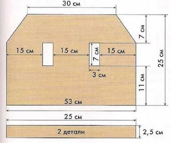 Планка - 25 см или 62 пет