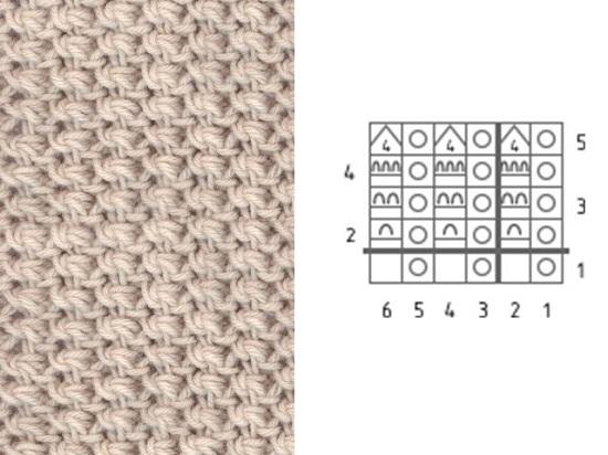 узор для вязания детских изделий или кофточек