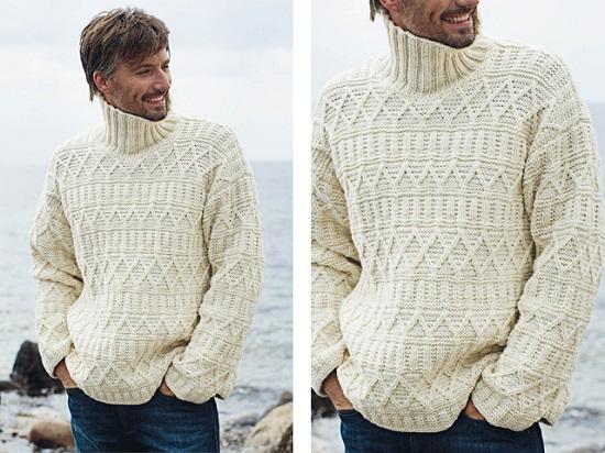 вязание свитеров для мужчин спицами