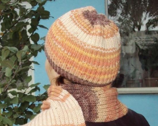 приступать к вязанию шапки бини