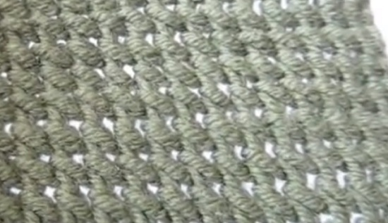 вязание спицами тунисского узора