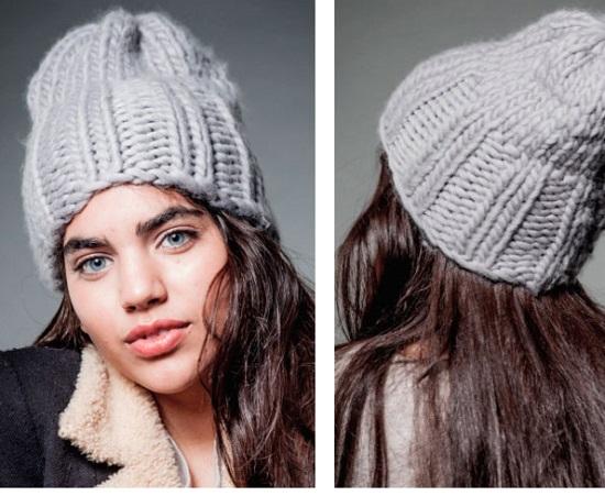 Вязание шапки спицами для женщин: модные модели