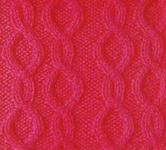 рельефный узор спицами «цепочки»