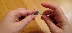 Следующую петельку за накидом переснимаем