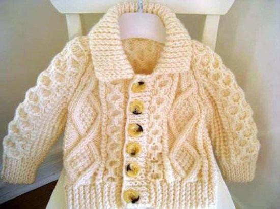вязание кофточки либо бодиков для малыша
