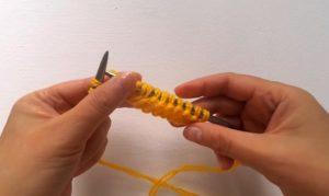 Вывязываем шесть изнаночных петель