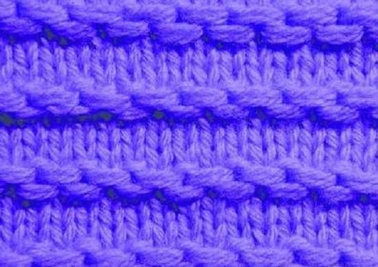 Горизонтальные цепочки, вывязанные со снятыми петельками
