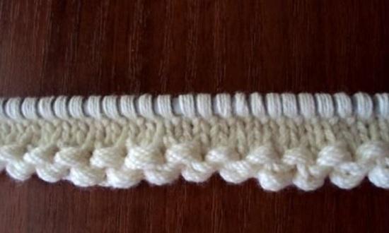 как можно красиво начать вязание спицами